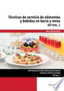 Técnicas de servicio de alimentos y bebidas en barra y mesa