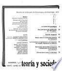 Teoría y sociedad