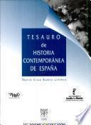 Tesauro de historia contemporánea de España
