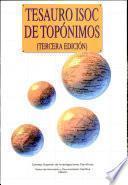 Tesauro ISOC de topónimos