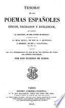 Tesoro de los poemas españoles ; epicos, sagrados y burlescos ...