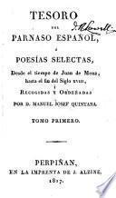 Tesoro del Parnaso español, poesias selectas castellanas, desde el tiempo de Juan de Mena hasta nuestro días