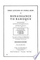 Three Centuries of Choral Music: Spanish music