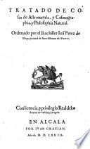 Tratado De Cosas de Astronomia, y Cosmographia, y Philosophia Natural