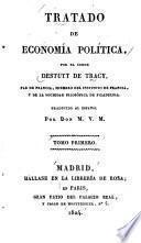 Tratado de economía política ...