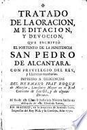 Tratado de la Oración,Meditación y Devoción...