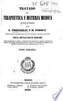 Tratado de terapéutica y materia medica