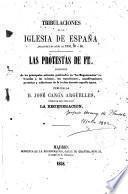 Tribulaciones de la Iglesia de España durante los años de 1854, 55, y 56