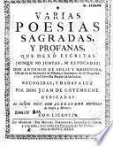 Varias poesías sagradas y profanas