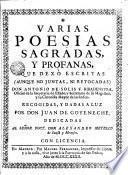 Varias poesías sagradas y profanas que dexó escritas