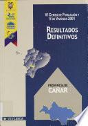 VI censo de población y V de vivienda, 2001: Provincia del Carchi