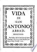 Vida de San Antonio Abbad. En octavas