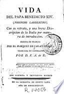 Vida del Papa Benedicto XIV, Próspero Lambertini