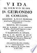 Vida del Siervo de Dios Fr. Gerónimo de Corleón religioso capuchino