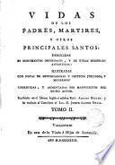 Vidas de los Padres Mártires y otros principales santos