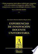 Viejas propuestas innovadoras todavía por conquistar en la universidad en tiempos de créditos ECTS, competencias, nuevas metodologías docentes y EEES