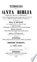Vindicias de la Santa Biblia contra los tiros de la incredulidad