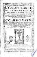 Vocabulario de la lengua tagala