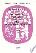 XV Congreso internacional de las ciencias genealogica y heraldica : Madrid, 19-25 septiembre 1982
